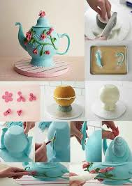 108 best tea party cakes images on pinterest teapot cake party