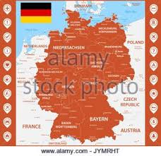 map of germany with states and capitals detailed vector map of germany and capital city berlin stock