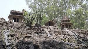 sculpture of sitting village people rock garden of chandigarh