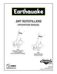 earthquake 7065v user manual 28 pages