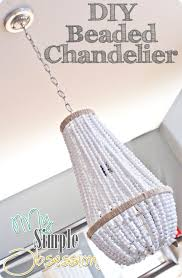 Beachy Chandeliers Upcycle A Plain Chandelier Into A Beaded Showpiece
