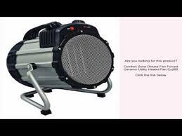Comfort Zone Heater Fan Comfort Zone Deluxe Fan Forced Ceramic Utility Heater Fan Cz285