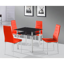 Small Glass Dining Table And 4 Chairs 100 Best 4 Seater Glass Dining Sets Images On Pinterest Dining