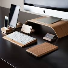Desk Accessories Canada Tech Accessories In Walnut Bamboo By Maderacraft Monoqi