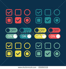 flat web design elements on off stock vector 230066662 shutterstock