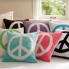 Girls Peace Sign Bedding by Peace Sign Pillows I Bet You Could Diy These Using Bleach Pens