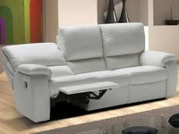 canap cuir blanc 3 places canapé 3 places achetez votre canapé cuir tissu ou simili en