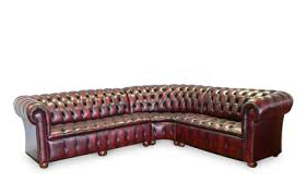 Chesterfield Corner Sofas The Corner Traditional Leather Sofa Chesterfields Direct