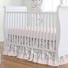 Pink And Gray Nursery Bedding Sets by Pink Flower Garden 3 Piece Crib Bedding Set Carousel Designs