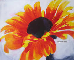 acrylic painting demonstration zowie zinnia cyd rust