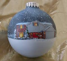 painted custom ornaments from photo