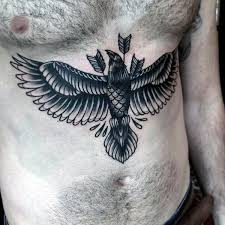collection of 25 chest and stomach wings tattoos for