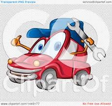 cartoon car png clipart graphic of a cartoon car mascot mechanic holding a wrench