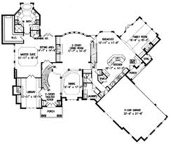 Floor 54 by European Style House Plan 4 Beds 4 50 Baths 4376 Sq Ft Plan 54 111