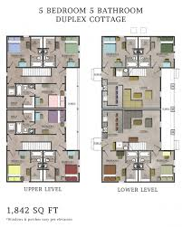 Duplex Floor Plans 3 Bedroom by 5 Bedroom Floor Plans