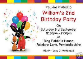 10 personalised birthday party invitations bing rabbit free