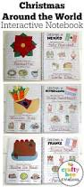 christmas around the world interactive notebook worksheets