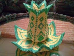 Origami 3d Flower Vase 3d Origami Vase Lotus