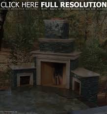 backyard fireplace kits home outdoor decoration