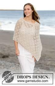 drops design poncho inayah drops 176 25 free knitting patterns by drops design