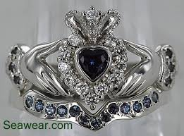claddagh set claddagh wedding band set