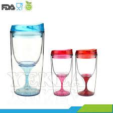 bpa free insulated plastic 10oz wine glass tumbler wine