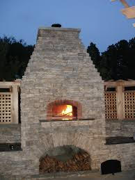 outdoor brick oven u0026 firepit chance and associates