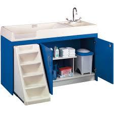Changing Table For Daycare Tot Mate 8543a Toddler Walk Up Changing Center With Sink Schoolsin