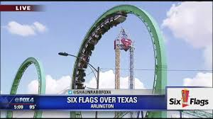 Dallas Texas Six Flags Riders Get Stuck On Six Flags Over Texas Rollercoaster Youtube