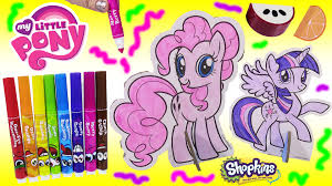 mlp pop outz color pinkie pie u0026 twilight sparkle scented markers