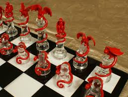 North Carolina travel chess set images Epic dragon chess set glass board polymer clay dragons jpg