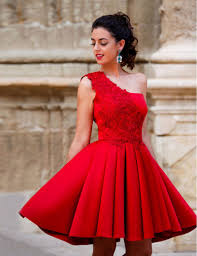 compare prices on red one shoulder cocktail dress online shopping