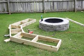 innovative ideas fire pit benches charming how to build fire pit