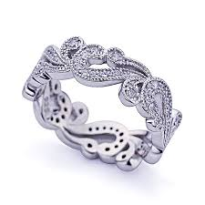 womens ring size eternity ring engagement rings sterling silver for women wedding