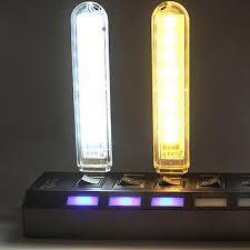amber led book light 1pcs mini usb led l book lights 8 leds 5730 smd cing night