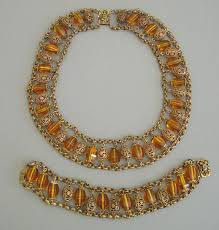 beaded collar necklace jewelry images Haskell topaz glass beads collar necklace and bracelet morning jpg