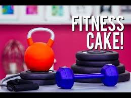 how to make fitness equipment out of cake vanilla cake