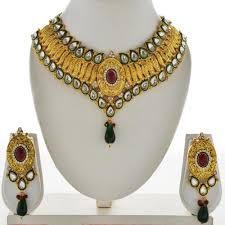 gold plated necklace sets images Gold plated necklace set by asian pearls necklace sets shopcj jpg