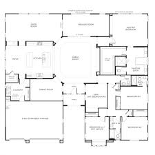 one story floor plans with two master suites baby nursery single story floor plans home designs single