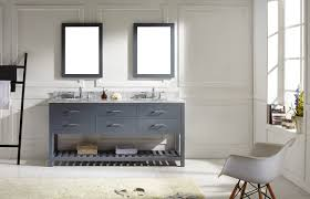 virtu usa caroline estate 72 bathroom vanity cabinet in grey