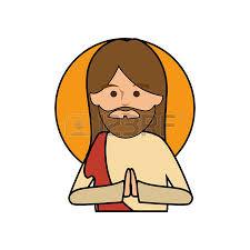 imagenes de jesucristo animado jesucristo cara iconos de dibujos animados ilustración vectorial