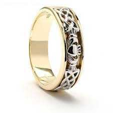 claddagh wedding rings claddagh celtic knot wedding ring with diamonds 14k gold