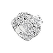 Engagement Ring With Wedding Band by Modern Engagement Rings Cubic Zirconia Sears