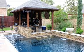 Backyard Designs With Pool And Outdoor Kitchen Outdoor Kitchens In The Woodlands Hortus Landscape Design