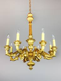 Antique Chandeliers Gilt Wood Chandelier 8 Light