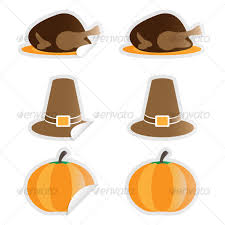 thanksgiving stickers by graceo graphicriver