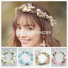 bohemian hair accessories wedding bridal bohemian flower hair garland handmade hairband