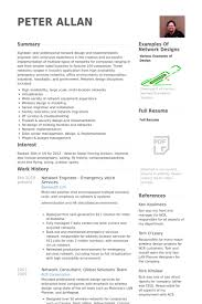 Resume Samples For Network Engineer by Emergency Resume Samples Visualcv Resume Samples Database