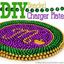 mardi gras decorations to make party ideas by mardi gras outlet diy beaded mardi gras charger plate