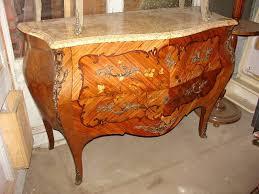 bureau marqueterie grosse commode style louis xv en marqueterie de bois précieux